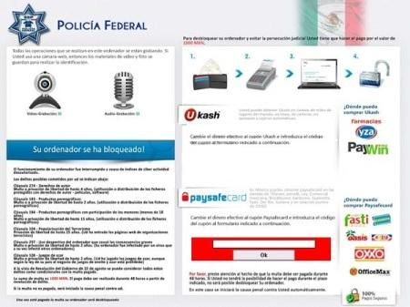 Un pantallaso del virus de la policia federal