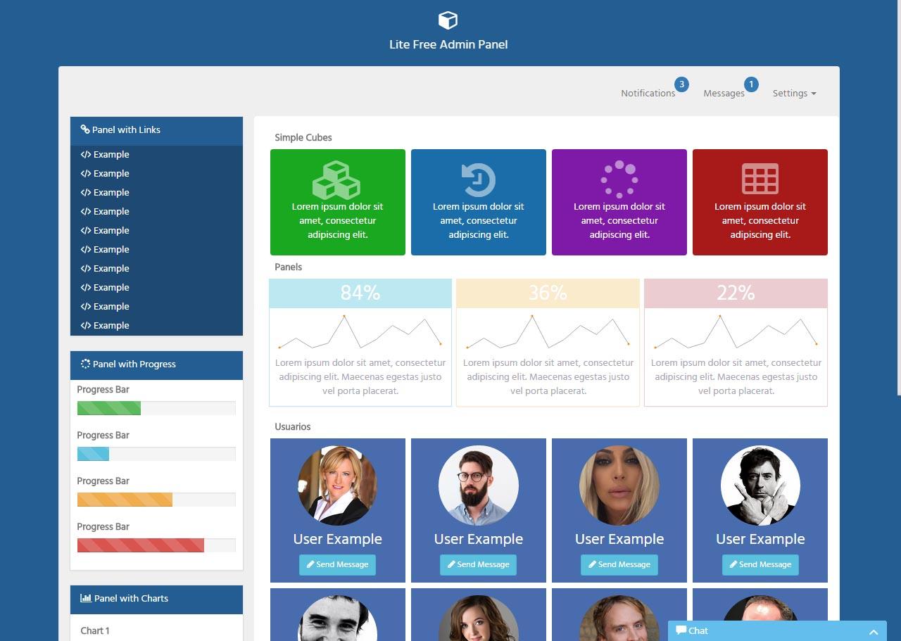 Lite Free Admin Panel v1.0 – Panel de Administración Gratuito HTML5 ...